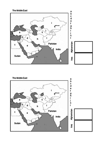 Middle East - location, climate, conflict