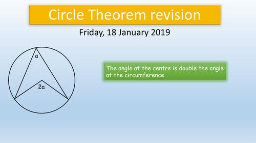 GCSE Maths : Circle Theorems Revision KS4