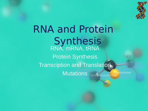 AQA A Level Biology - RNA and Protein Synthesis