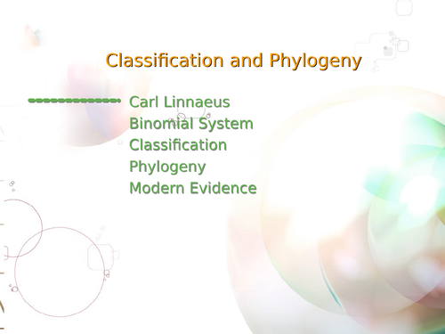 AQA A Level Biology - Classification
