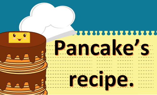 Recipe. Pancakes. Logical order.