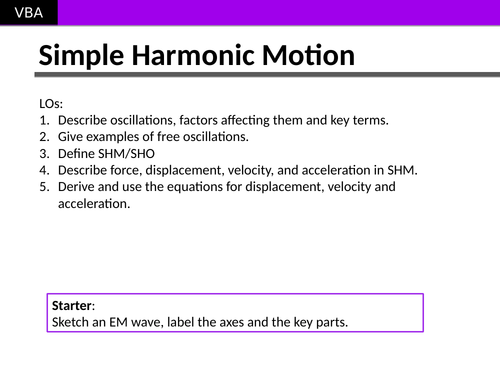 A2 Physics - Simple Harmonic Motion