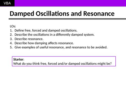 A2 Physics - SHM Damping and Resonance
