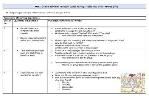 Guided Reading Medium Term Plan (PURPLE reading band)