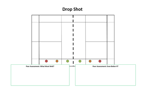 Badminton Resource Card