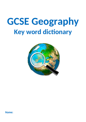 AQA GCSE Geography dictionary