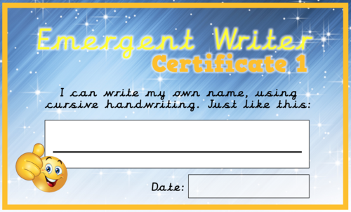 Award Certificates for Keen Writers