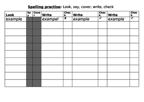 8 Ways to Improve Spelling and LSCWC Sheet