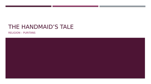 'The Handmaid's Tale'AQA A-level Language and Literature