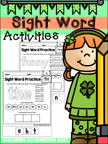 Sight Word Activities (Pre-Primer)