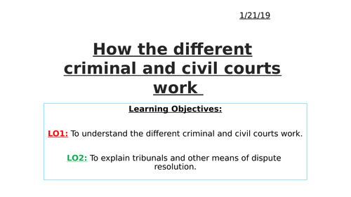 Criminal and civil courts