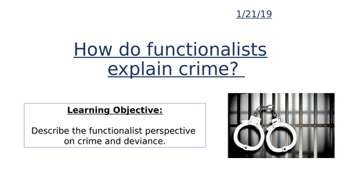 How do functionalists explain crime