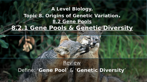 Gene Pools, Genetic Diversity, Allele Frequency & Hardy-Weinburg Equation