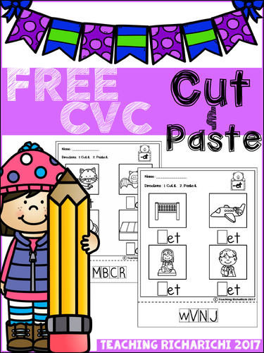 FREE CVC Cut and Paste