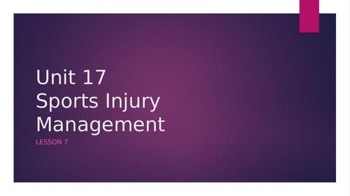BTEC Sports Unit 17: Sports Injury Management Level 3