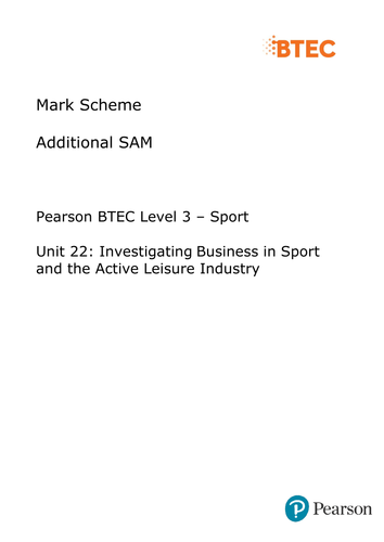 BTEC LEVEl 3 UNIT 22: INVESTIGATING BUSINESS IN THE SPORT AND ACTIVE LEISURE INDUSTRY Part A