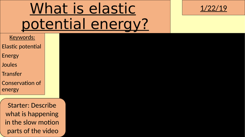 What is elastic potential energy?