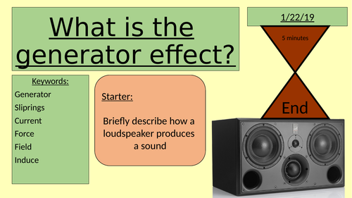 What is the generator effect?