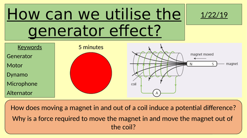 Using the generator effect