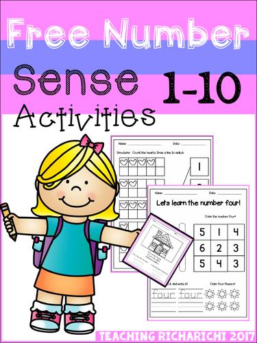 FREE Number Sense Activities (1-10)