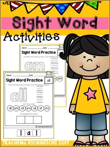 Sight Word Activities (Primer)
