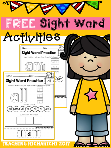 FREE Sight Word Activities (Primer)