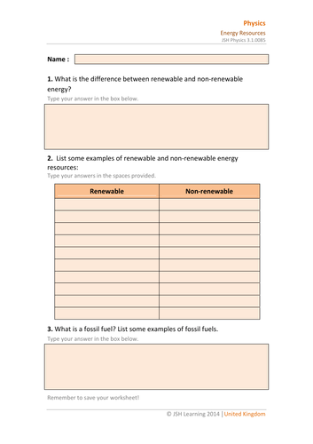 KS3 Science - Energy Resources Interactive PDF by ...