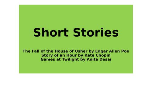 Short Stories Scheme - Poe Chopin Desai