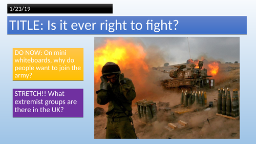 KS3 // Is it right to fight? - War and Peace