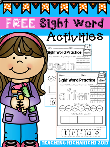 FREE Sight Word Activities (First Grade)