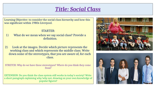 Social Class Context for Blood Brothers
