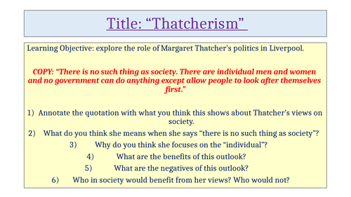 Thatcher's Policies Blood Brothers