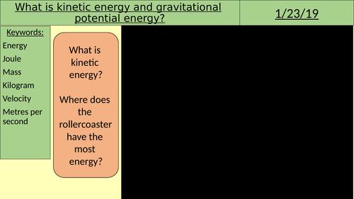 Gravitational and kinetic energy transfers