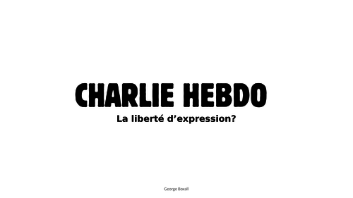 Edexcel A Level French Charlie Hebdo Powerpoint