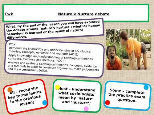 GCSE 9-1 Sociology Nature v nurture