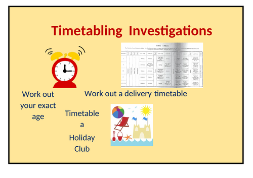 Three Timetabling Investigations