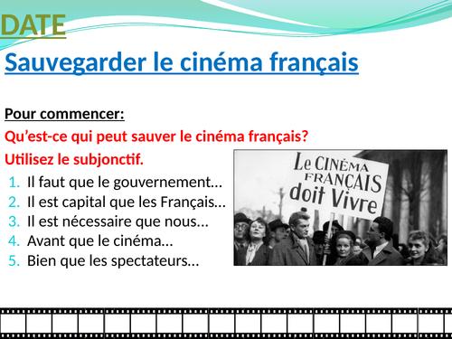 Le cinéma: une passion nationale - comment sauver le cinéma français?
