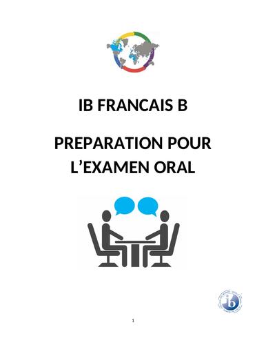 IB French B Oral/Speaking Exam 2018 Handbook