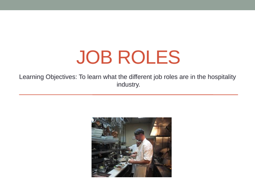 Job Roles in Hospitality