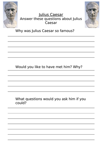 Julius Caesar Homework/Activity Sheet KS2   Teaching Resources