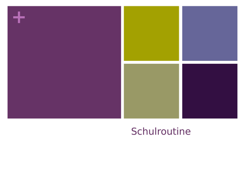 Schulroutine Example Writing
