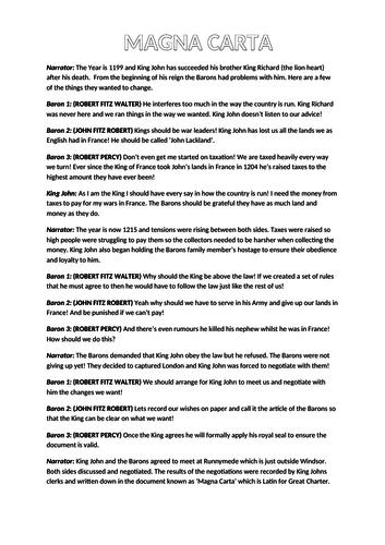 Magna Carta script