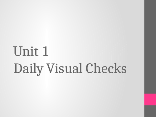 BTEC Animal Care Unit 1 Daily Visual Checks
