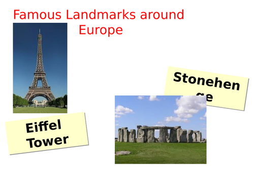 Geography plan and resources - Europe