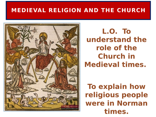 Medieval religion and the church
