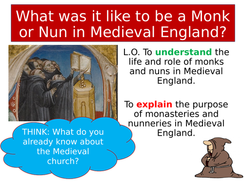 Medieval monks and nuns