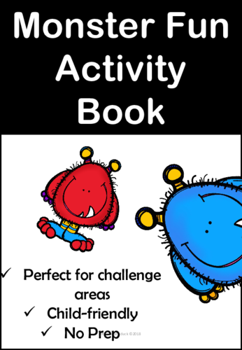 My Monster Activity Book for EYFS/KS1