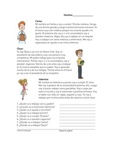 Spanish Conversational Future: Ir + a + Infinitive - Lectura de mi futuro
