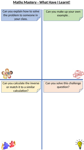 Maths Mastery - What Have I Learnt?