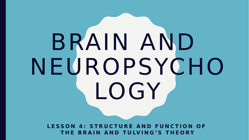 AQA GCSE Psychology (New Spec) Lesson 4/6-Brain and Neuropsyc-Function of Brain and Tulving